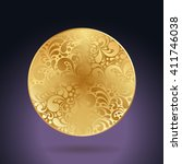 circle golden decoration made... | Shutterstock .eps vector #411746038