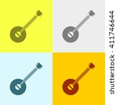 Banjo Icon On Four Different...