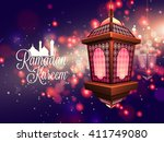 beautiful traditional hanging... | Shutterstock .eps vector #411749080