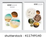 business brochure design... | Shutterstock .eps vector #411749140