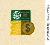 credit card  design    Shutterstock .eps vector #411749413
