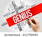genius word cloud  business... | Shutterstock . vector #411750454