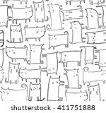 cute cat illustration sketch... | Shutterstock .eps vector #411751888