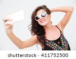 Smiling Woman In Sunglasses...