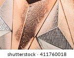 three dimensional geometric... | Shutterstock . vector #411760018