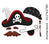vector illustration of pirate... | Shutterstock .eps vector #411763780