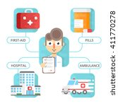 medical infographic vector... | Shutterstock .eps vector #411770278