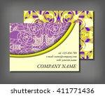 set of business card template ... | Shutterstock .eps vector #411771436