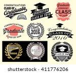 graduation sector set class of... | Shutterstock .eps vector #411776206