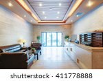 reception desk and lobby in... | Shutterstock . vector #411778888