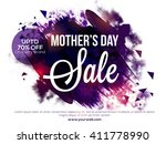 mother's day sale  sale poster  ... | Shutterstock .eps vector #411778990