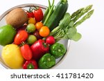 vegetables and fruits  | Shutterstock . vector #411781420