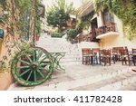 charming street in the old... | Shutterstock . vector #411782428