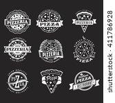 vector logo set of vintage... | Shutterstock .eps vector #411786928