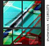 corporate identity template set....   Shutterstock .eps vector #411801373