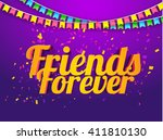 a beautiful  card with stylish... | Shutterstock .eps vector #411810130