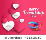 a beautiful  card with stylish... | Shutterstock .eps vector #411810160