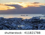 vestfjord coastal area near... | Shutterstock . vector #411821788
