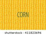 sweet corn background. print.... | Shutterstock .eps vector #411823696