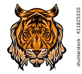 head of a tiger | Shutterstock .eps vector #411825310