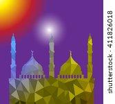beautiful religious eid... | Shutterstock .eps vector #411826018
