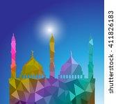beautiful religious eid... | Shutterstock .eps vector #411826183
