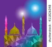 beautiful religious eid... | Shutterstock .eps vector #411826348