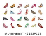 Shoes Hand Drawn Colored Vector ...