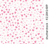 seamless pattern with pink... | Shutterstock .eps vector #411841489