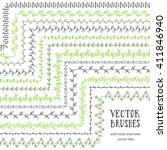 hand drawn decorative vector... | Shutterstock .eps vector #411846940