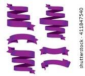 purple banner ribbon vector set | Shutterstock .eps vector #411847540