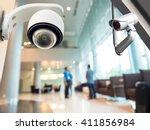 security cctv camera or... | Shutterstock . vector #411856984