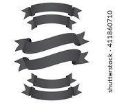 collection of the dark grey... | Shutterstock .eps vector #411860710