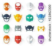super hero mask icon colorful... | Shutterstock .eps vector #411862300