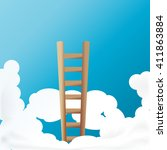 Ladder Into Sky Concept Of...