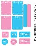 planner sticker set | Shutterstock .eps vector #411864340