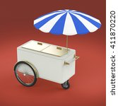 promotion counter on wheels...   Shutterstock . vector #411870220