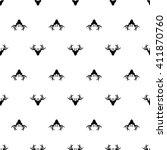deer antlers pattern seamless | Shutterstock .eps vector #411870760