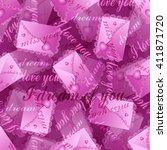 vector seamless pattern. pink... | Shutterstock .eps vector #411871720