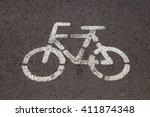 bicycle way | Shutterstock . vector #411874348