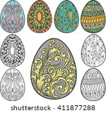 easter element vector | Shutterstock .eps vector #411877288