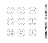 arrow icon set. linear style