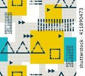 seamless geometric pattern | Shutterstock .eps vector #411890473