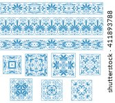 set collections of old greek... | Shutterstock .eps vector #411893788