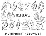 set of nature pictograms  tree... | Shutterstock . vector #411894364