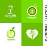 vector company logo icon... | Shutterstock .eps vector #411895468