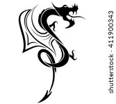 picture black and white dragon... | Shutterstock .eps vector #411900343