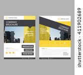 yellow vector annual report... | Shutterstock .eps vector #411902689