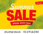 summer sale template banner | Shutterstock .eps vector #411916240