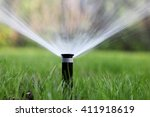 sprinkler of automatic watering | Shutterstock . vector #411918619